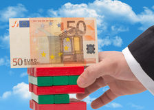 The instability of the euro. In the concept Stock Image