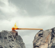 Instability and Fear of obstacles to overcome royalty free stock photo