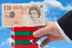 The instability of the pound. In the concept Stock Images