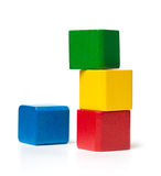 Instable Toy Block Tower Royalty Free Stock Images