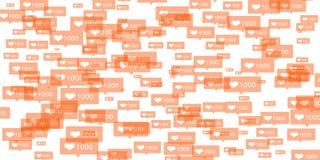 Instagram喜欢 免版税库存照片