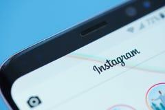 Instagram社会网络moblie菜单 免版税库存图片