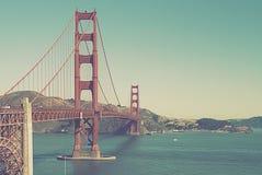 Instagram金门大桥视图-旧金山,加利福尼亚的样式图象 库存图片