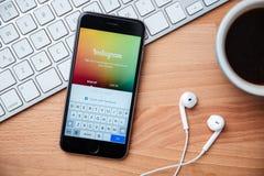Instagram è la maggior parte del sito popolare della rete sociale della fotografia in mondo Fotografia Stock Libera da Diritti