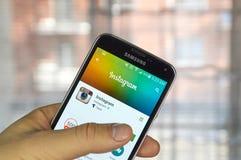 Instagram передвижной app Стоковое Изображение