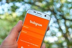 Instagram передвижной app Стоковое Фото