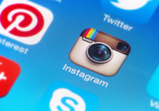 Instagram Immagine Stock
