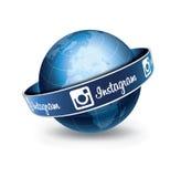 Глобус Instagram Стоковая Фотография