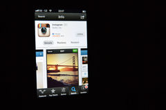 Instagram app Στοκ εικόνα με δικαίωμα ελεύθερης χρήσης