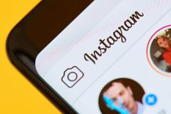 Instagram app menu Zdjęcia Stock