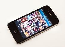 Instagram app op iPhone Royalty-vrije Stock Foto's
