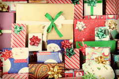 Instagram Christmas Presents Royalty Free Stock Photography