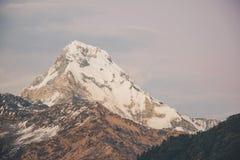 Instagram filter Himalaya mountains Stock Image