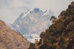 Instagram filter Himalaya mountains Royalty Free Stock Photos