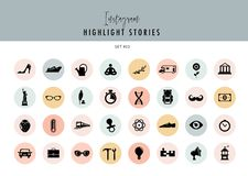 Instagram Highlights Stories Covers Icons collection. Fully editable, scalable vector file. Instagram Highlights Stories Covers Icons collection. A fully vector illustration