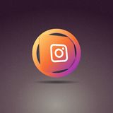 Instagram Icon. To be placed on the website and others Stock Photography