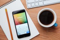 Instagram jest najwięcej popularnej fotografii networking ogólnospołecznego miejsca w świacie Obrazy Stock