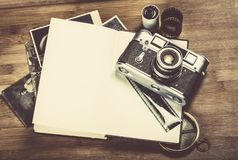 Instagram. List camera do design hipster photography royalty free stock photos