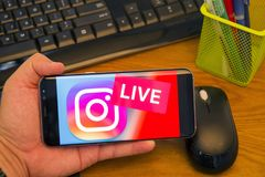 Instagram live stream logo