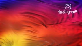 Instagram Logo Colorful Smooth Gradient Wave bakgrundstapet Arkivbild