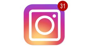 Instagram logo with counter of likes, followers. Instagram -most popular social network for photos, video content. 4K video