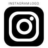 Instagram-Logo mit Vektor Ai-Datei Quadratisches Schwarzes u. weiß stock abbildung