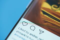 Instagram moblie菜单 库存照片