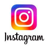 Instagram ny logo royaltyfri fotografi