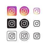 Instagram Ogólnospołeczne Medialne ikony royalty ilustracja