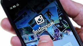 Instagram. Palm Springs, California, USA - June 14. 2013: A smartphone displaying the login page for the Android version of Instagram. Instagram is an online Stock Photography