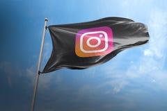 Instagram photorealistic flag editorial stock images