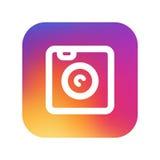 Instagram-pictogram exemplaar Stock Fotografie