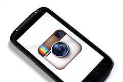 Instagram Smartphone Royalty Free Stock Photos