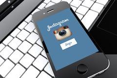 Instagram Smartphone Imagen de archivo libre de regalías
