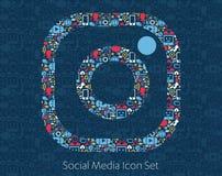 Instagram-Social Media-Ikonen stock abbildung