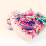 Instagram Style Pizza Stock Photo