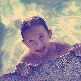 Instagram Summer Swimming Fun Stock Images