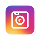 Instagram-symbol kopia royaltyfri illustrationer