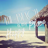 Instagram of tropical beach with quote Royalty Free Stock Photo