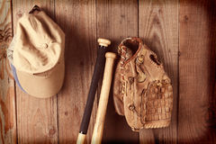 Instagram Vintage Baseball Still Life Royalty Free Stock Images