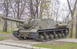 A instalação automotora da artilharia do exército soviético, que participou nas batalhas da segunda guerra mundial Foto de Stock Royalty Free