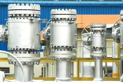 A instalação da refinaria do gás Fotos de Stock Royalty Free