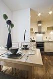 Instalação da tabela de jantar Foto de Stock Royalty Free