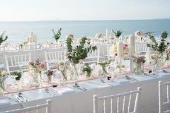 Instalação da tabela do casamento Imagens de Stock Royalty Free
