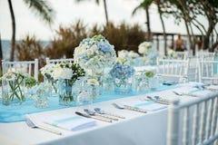 Instalação da tabela do casamento Imagem de Stock Royalty Free