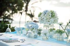Instalação da tabela do casamento Fotos de Stock