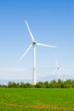 A instalação das energias eólicas Foto de Stock