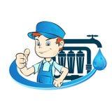 A instalação de filtros de água ilustração stock