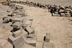 A instalação de Pavers do tijolo Fotos de Stock