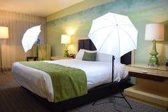 Instalação de Photoshoot do hotel Fotografia de Stock